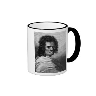 Omai, engraved by J.Caldwall, 1777 Ringer Coffee Mug