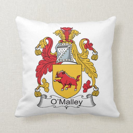 O'Malley Family Crest Pillow