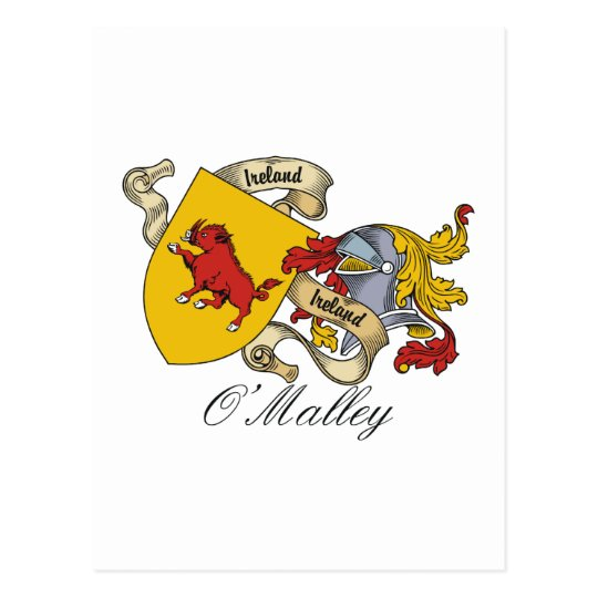 O'Malley Family Crest Postcard