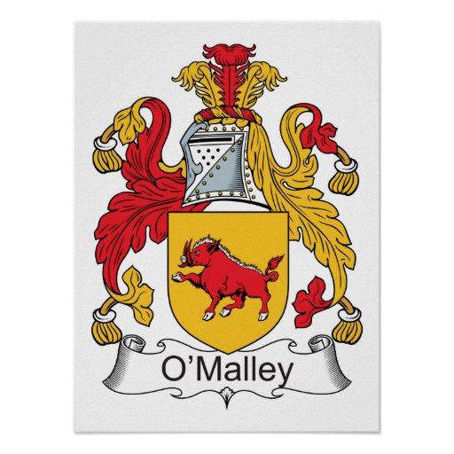 O'Malley Family Crest Poster