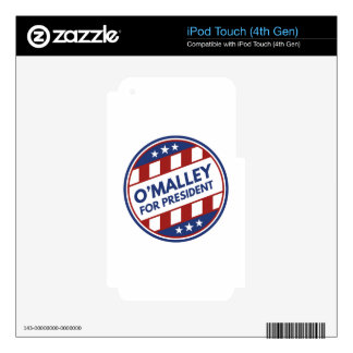 O'Malley For President Decal For iPod Touch 4G