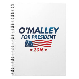O'Malley For President Notebook