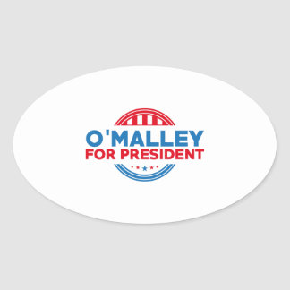 O'Malley For President Oval Sticker