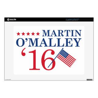 """O'Malley For President Skins For 15"""" Laptops"""