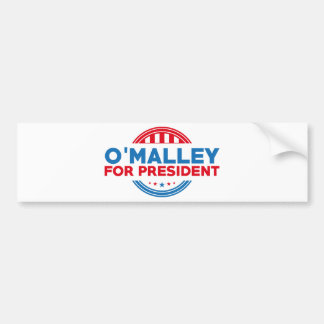 O'Malley para el presidente Pegatina Para Auto