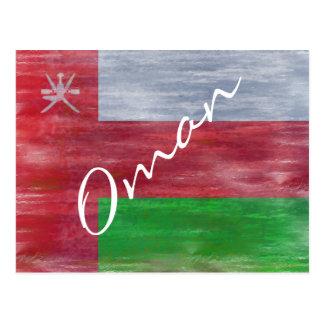 Omán apenó la bandera tarjetas postales