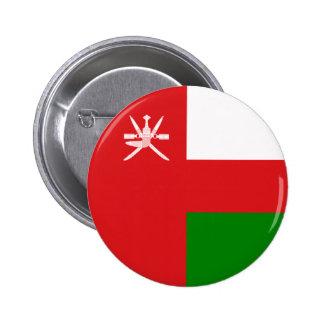 Omán - bandera omaní pin redondo 5 cm