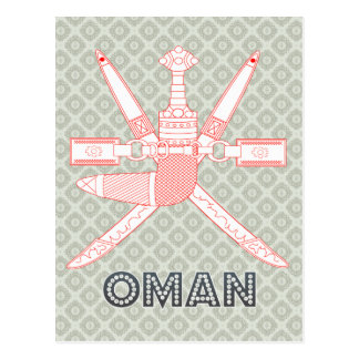 Oman Coat of Arms Post Card