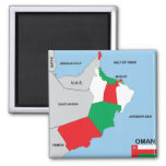oman country political map flag district region 2 inch square magnet