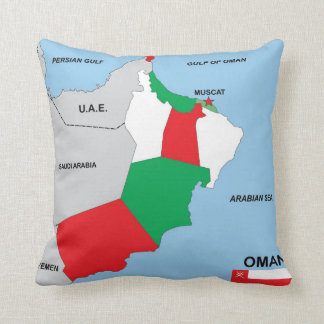 oman country political map flag district region pillow