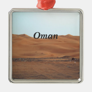 Oman Desert Square Metal Christmas Ornament
