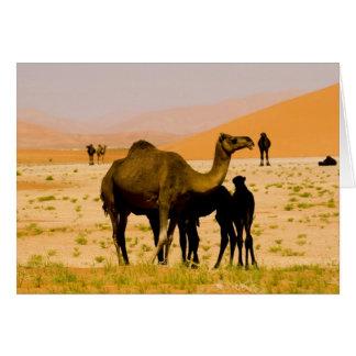 Omán, desierto de Khali del Al de la frotación, ca Tarjeta De Felicitación