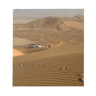 Omán, desierto de Khali del Al de la frotación, co Bloc De Papel
