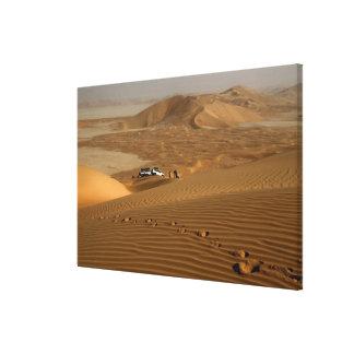 Omán, desierto de Khali del Al de la frotación, co Impresión En Tela