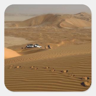 Omán, desierto de Khali del Al de la frotación, Pegatina Cuadrada