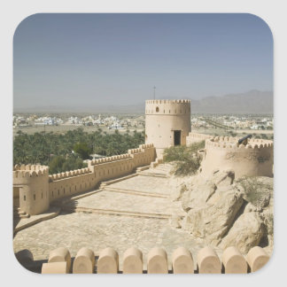 Omán, el llano de Batinah, Nakhal. Fuerte de Pegatina Cuadrada