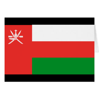 Oman Flag Card