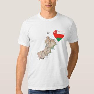 Oman Flag Heart and Map T-Shirt
