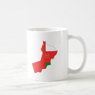 Oman flag map classic white coffee mug