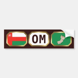 Oman Flag Map Code Bumper Sticker Car Bumper Sticker
