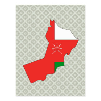 Oman Flag Map full size Postcard