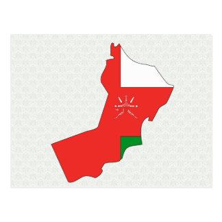 Oman Flag Map full size Postcards