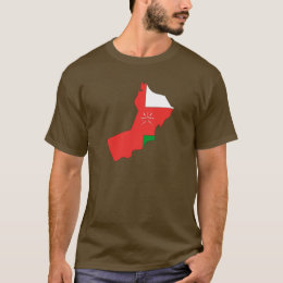 Oman flag map T-Shirt