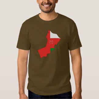 Oman flag map tee shirt