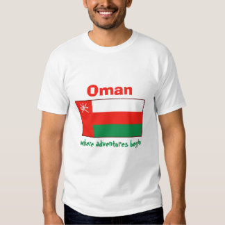 Oman Flag + Map + Text T-Shirt