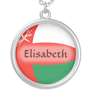 Oman Flag + Name Necklace