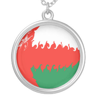 Oman Gnarly Flag Personalized Necklace