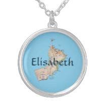 Oman Map   Name Necklace