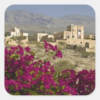 Omán, montañas occidentales de Hajar, Al Hamra. Pegatina Cuadrada