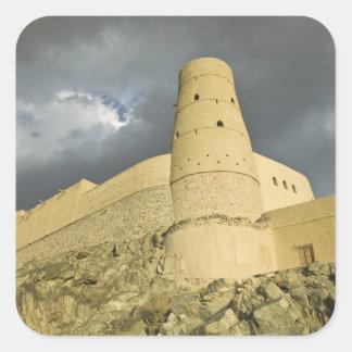 Omán, montañas occidentales de Hajar, Bahla. Pegatina Cuadrada