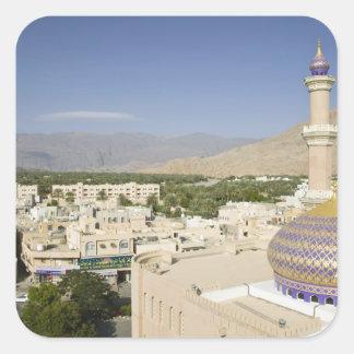 Omán, montañas occidentales de Hajar, Nizwa. Nizwa Pegatina Cuadrada