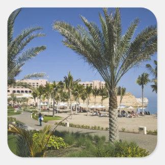 Omán, Muscat, Al, Jissah. Shangri, Al de Barr del Pegatina Cuadrada