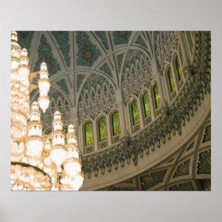 Omán, Muscat, mezquita de Qaboos del sultán Poster