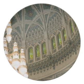 Omán, Muscat, mezquita de Qaboos del sultán Plato