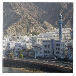 Omán, Muscat, Mutrah. Edificios a lo largo de Mutr Teja