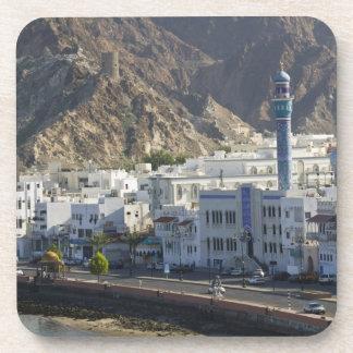 Omán, Muscat, Mutrah. Edificios a lo largo de Mutr Posavasos De Bebidas
