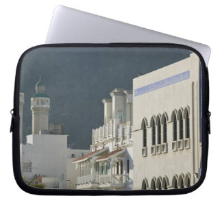 Oman, Muscat, Mutrah. Mutrah Corniche Mosque and Computer Sleeves
