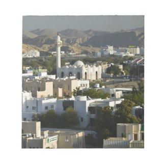 Oman, Muscat, Qurm. Buildings of Qurm Area / 2 Notepad