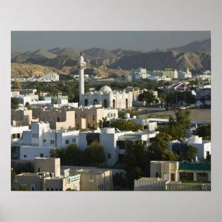 Oman, Muscat, Qurm. Buildings of Qurm Area / 2 Poster
