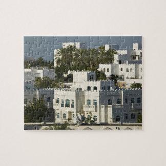 Omán, Muscat, Qurm. Edificios de Qurm del área/ Rompecabezas Con Fotos