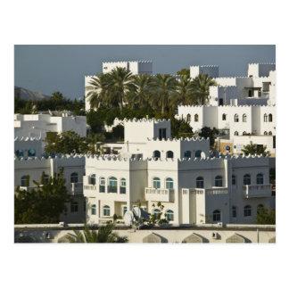 Omán, Muscat, Qurm. Edificios de Qurm del área/ Tarjeta Postal