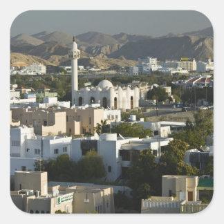 Omán, Muscat, Qurm. Edificios del área/2 de Qurm Pegatina Cuadrada