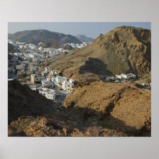 Oman, Muscat, Ruwi/Al Hamriyah. View of Ruwi / Poster
