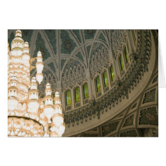 Oman, Muscat, Sultan Qaboos mosque Greeting Card