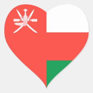 Omán Pegatina En Forma De Corazón