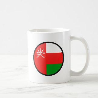 Oman quality Flag Circle Classic White Coffee Mug